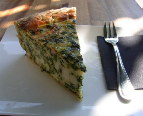 Crab and spinach quiche at Tarte and Quiche Barcelona