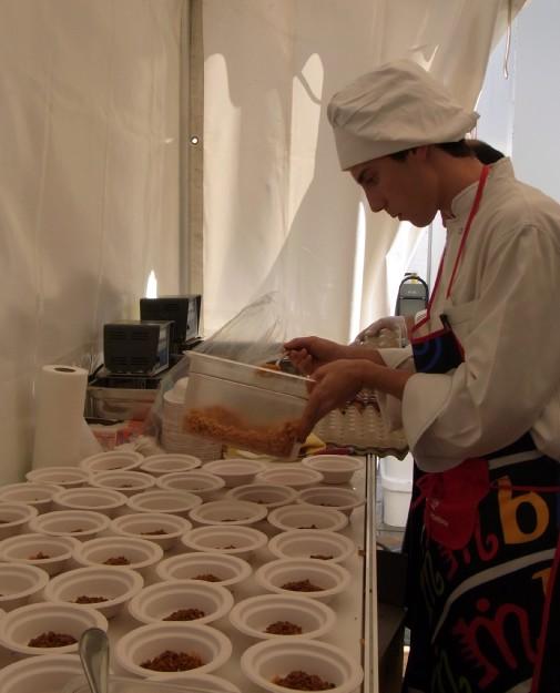 Tapas preparation at Mercat del mercats Barcelona