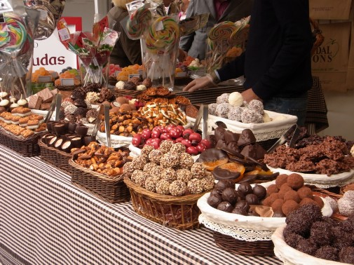 Chocolates at Mercat del mercat Barcelona