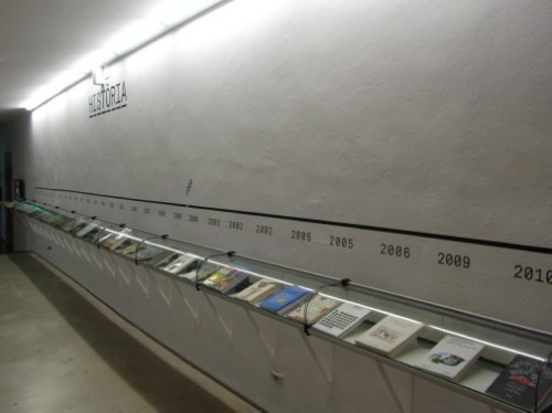 Timeline of food science books at Art Santa Monica Barcelona