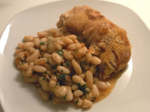 Pig feet with white beans