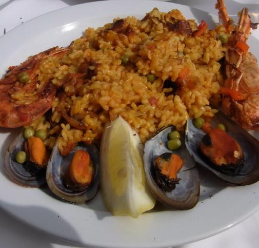 Paella at La Costa Dorada, Sitges