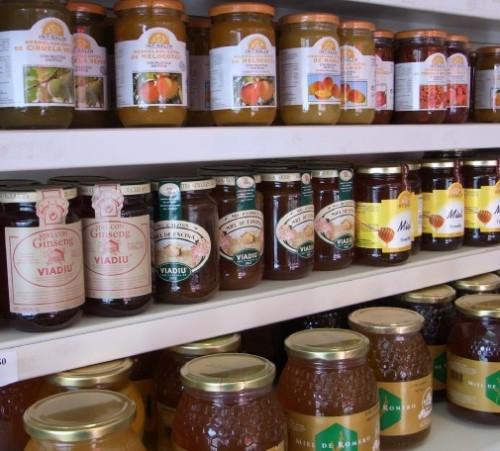 Jams and honeys at Parami wholesaler, Barcelona