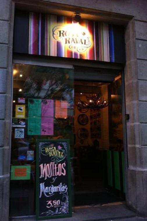 Rosa del Raval entrance, Barcelona