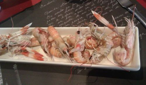 Saltwater crayfish (cigalas) at Somorrostro restaurant, Barcelona food blog, Claire Gledhill