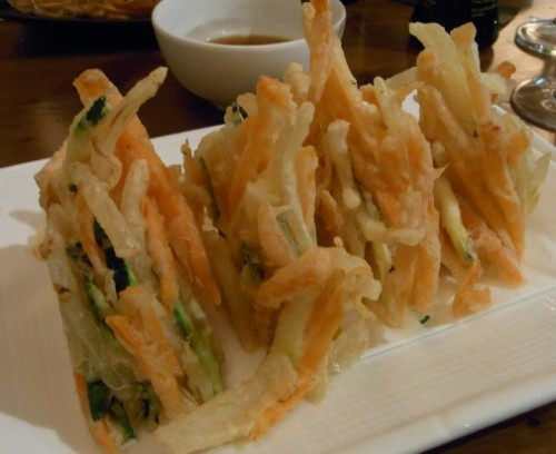 Kakiage vegetable tempura at Kibuka, Barcelona food blog, Claire Gledhill