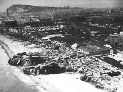 Somorrostro beach in 1940, Claire Gledhill, Barcelona food blog
