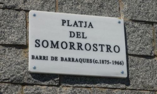 Plaque of Somorrostro beach, Barcelona, Claire Gledhill, Barcelona food blog